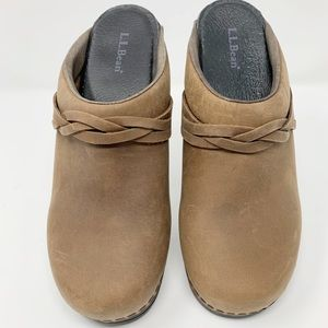 LL Bean Women Size 9 (39) Clogs Slipon Mule Brown